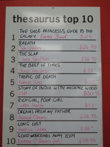 Bestsellers List Melbourne - ABC Thesaurus Books, Brighton