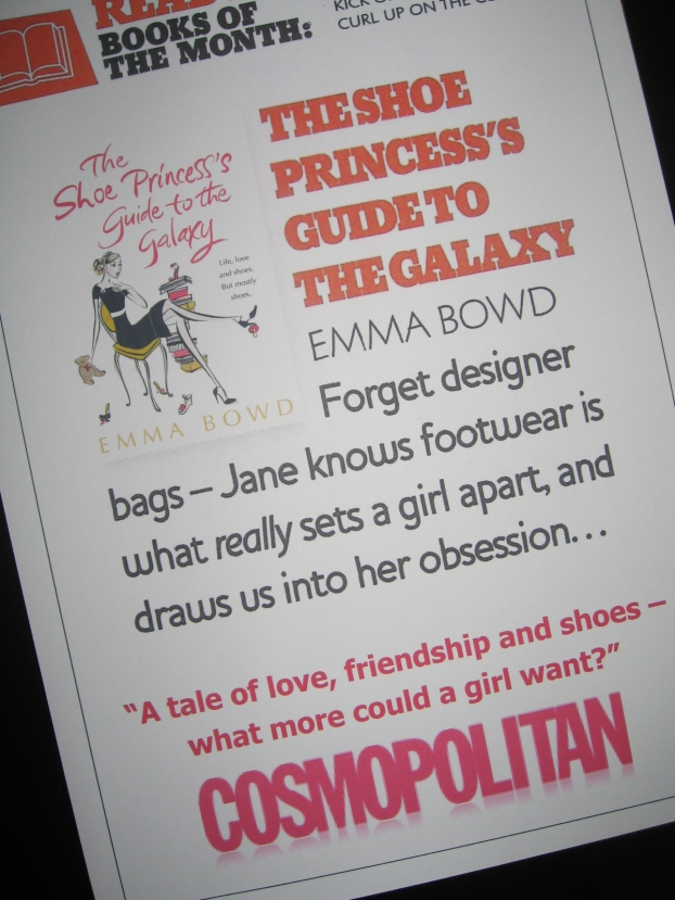 Cosmopolitan Mag - book of the month